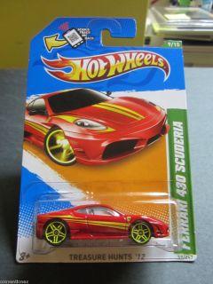 Mattel 2012 Hot Wheels Treasure Hunt Ferrari 430 Scuderia 9 15