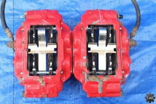 06 07 Subaru Impreza WRX TR Turbo Wagon 2 Pot 4 Pot Red Brake Calipers