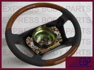 Mercedes Benz Seering Wheel Leaher Wood W140 Gray Grey Ligh Wood