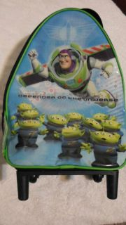 Buzz Lightyear Suitcase Child Rolling Wheels Luggage Zipper Adjustable