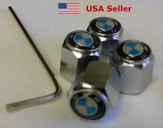 BMW Locking Tire Valve Stem Cap Covers Fast US Shipping