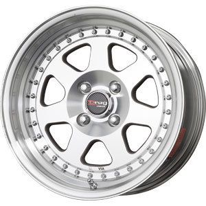 New 15x7 4x100 Drag Dr 27 Machined Wheels Rims