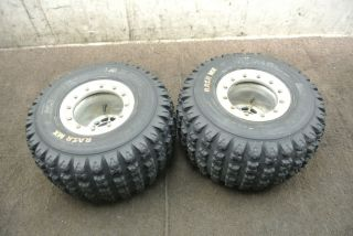 2004 04 Yamaha YFZ450 YFZ 450 Rear Wheel Set Rims Tires Wheels
