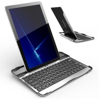 Aluminum Bluetooth Keyboard Case Stand for Samsung Galaxy Tab 10 1