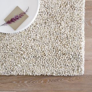 West Elm Bello Shag Wool Rug 8 x 10 Natural