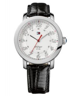 Tommy Hilfiger Watch, Womens Black Leather Strap 36mm 1781263   All