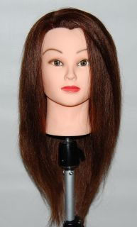 22 Cosmetology Mannequin Head Human Hair Table Clamp Holder Included