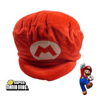 Super Mario Bros Cap Hat Soft Plush Toy Cosplay Red
