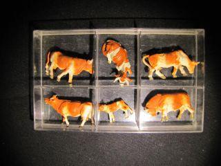 Kühe (6 Figuren) Figuren a.d.60/70iger Jahren NEU&OVP X01 387