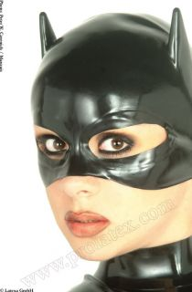 Sie bieten hier auf eine Latex Halbmaske   Catwoman Maske mit