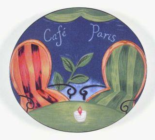 Sango Cafe Paris Salad Plate, Fine China Dinnerware   Various Women In Cafe,Smoo