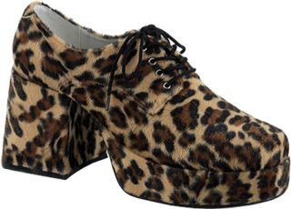 Mens Funtasma Jazz 02   Brown Cheetah Fur Costume Shoes