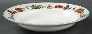 Cooks Club Falls Church Rim Soup Bowl, Fine China Dinnerware   Multicolor Town S