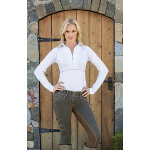 Goode Rider Ideal Long sleeve Show Shirt White Small