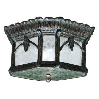 Kichler 9854LD Outdoor Light, European Flush Mount 2 Light Fixture Londonderry