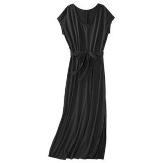 Merona Womens Knit V Neck T Shirt Maxi Dress   Black   XL