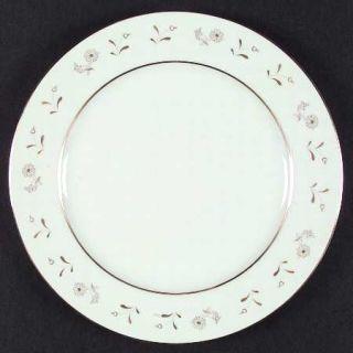 ACI Denise Dinner Plate, Fine China Dinnerware   Gold Flowers & Trim