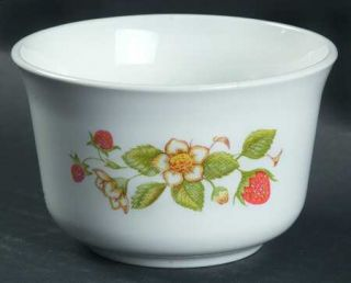 Corning Strawberry Sundae Open Sugar Bowl, Fine China Dinnerware   Corelle, Stra
