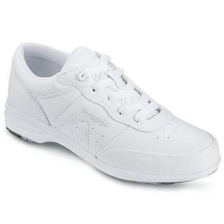 Propet Wash & Wear Leather Comfort Shoes, Black, Womens