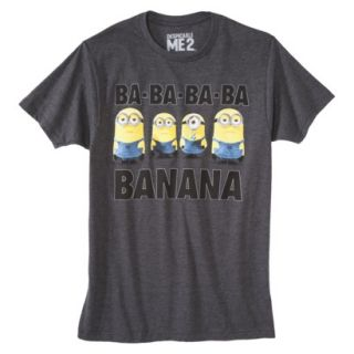 Despicable Me Minions Mens Graphic Tee   Charcoal M