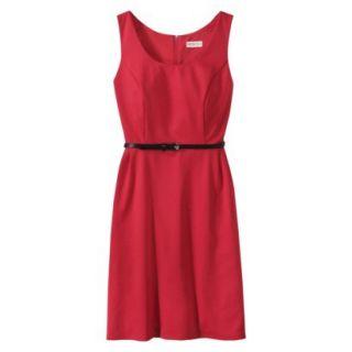 Merona Petites Sleeveless Fitted Dress   Red SP