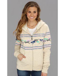 Volcom Wolf Run Zip Fleece Womens Sweatshirt (Taupe)
