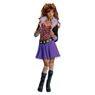 Girls Monster High Clawdeen Wolf Costume