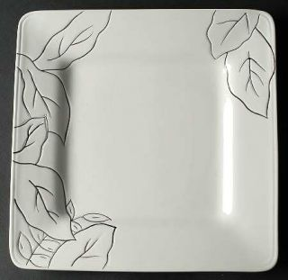 Laurie Gates Anna White Dinner Plate, Fine China Dinnerware   All White,Floral,S