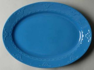 Kennex Group (China) Florence French Blue 14 Oval Serving Platter, Fine China D