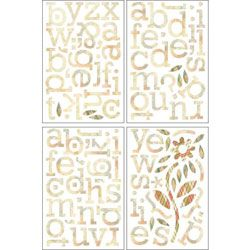 Basic Grey Jovial Die cut Sticker Sheets (set Of 4) (PaperPackage contains four (4) 8.5 x 5.75 inch sheets of chipboard stickersImportedModel JOV 2826)