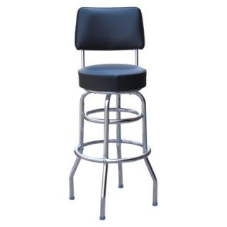 Swell Holland 30 In Cambridge Double Ring Bar Stool Chrome Finish Beatyapartments Chair Design Images Beatyapartmentscom