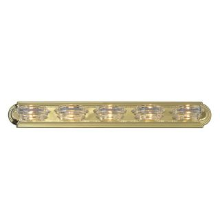 Polished Brass 5 light Bath Bar