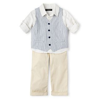 Wendy Bellissimo 3 pc. Vest Pant Set   Boys 6m 24m, Tan, Boys