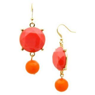 Drop Earrings   Gold/Pink