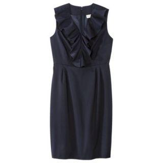 Merona Petites Sleeveless Sheath Dress   Blue 16P