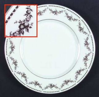 Mikasa Regent Dinner Plate, Fine China Dinnerware   Gold Floral Swags   Fine Chi