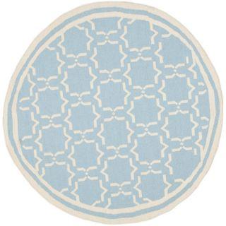 Safavieh Dhurries Light Blue/Ivory Rug DHU545B Rug Size: Round 6