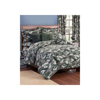 Browning Buckmark Camo 3 Piece Comforter Set 071 Size: Queen, Color: Green