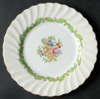 Minton Ardmore (Green Leaf) Bread & Butter Plate, Fine China Dinnerware   Cream