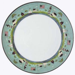 Sakura Coastal Breeze Plastic Dinner Plate, Fine China Dinnerware   Warren Kimbl