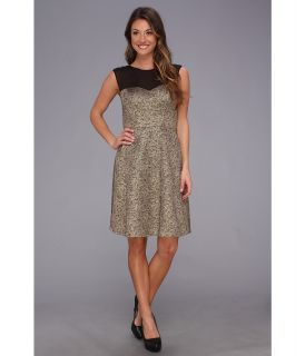 Donna Morgan Extended Sleeve Fit N Flary Party Dress Womens Dress (Gold)