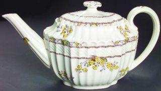 Spode Wicker Dell Teapot & Lid, Fine China Dinnerware   Chelsea Wicker, Floral R