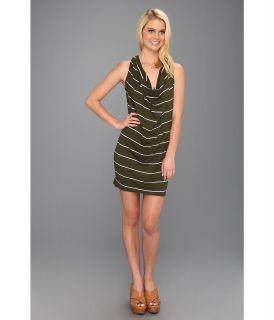 Michael Stars Anoinette Island Stripe Halter Mini Dress Womens Dress (Brown)