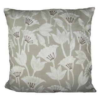 Design Accents Arabic Floral Cotton Pillow   20L x 20W in. Multicolor