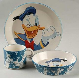 Royal Doulton Mickey & Minnie Mouse 3 Pc Child Set, Fine China Dinnerware   Disn