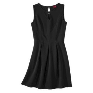 Merona Womens Textured Sleeveless Keyhole Neck Dress   Black   XL