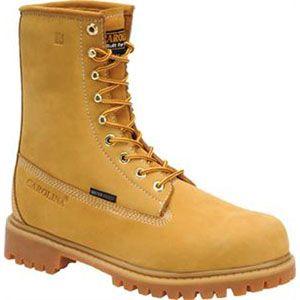 Carolina Mens 8 Inch Waterproof Insulated Work Boot Wheat Boots   CA7145