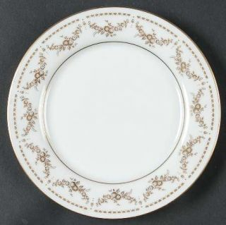 Mikasa Regent Bread & Butter Plate, Fine China Dinnerware   Gold Floral Swags