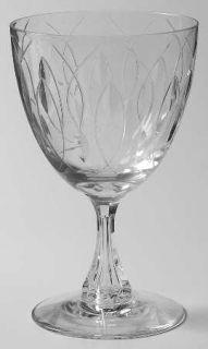 Tiffin Franciscan Kirsten Water Goblet   Stem #17624, Cut