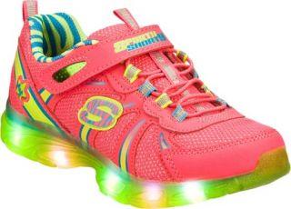 Infant/Toddler Girls Skechers S Lights Glitzies Spark Upz   Pink/Green Sneakers